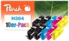 319975 - Peach 10er-Pack Tintenpatronen kompatibel zu No. 364 HP